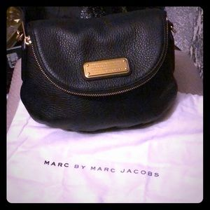 Marc Jacob black leather crossbody bag